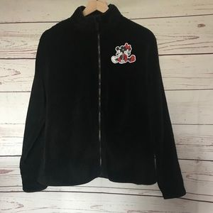 Disney Mickey And Minnie Fleece Jacket Black Large